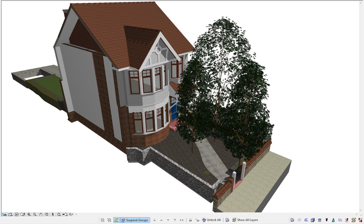 Archicad BIM model of a building in London UK by ArchicadTeam.com