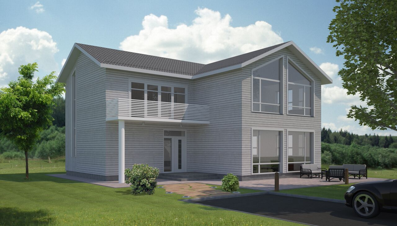 Render of house done for Norwegian client