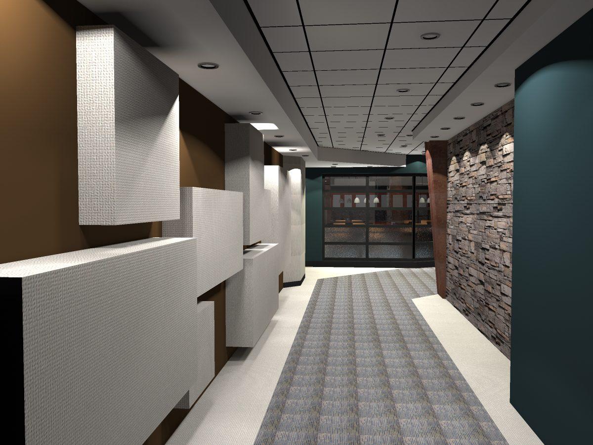 Corridor ( render of Archicad model ) by ArchicadTeam.com