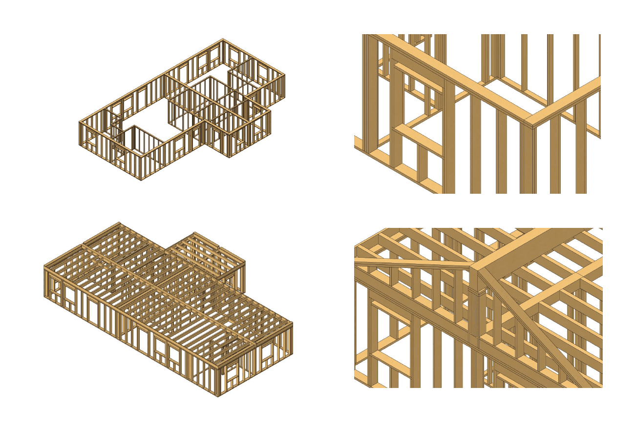 Archicad model of woodframe house in Norway by ArchicadTeam.com