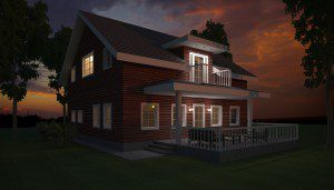Architectural rendering from Archicad model