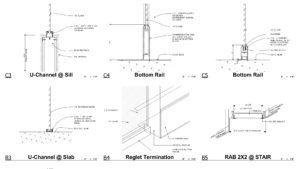 2D Architectural detail drafting