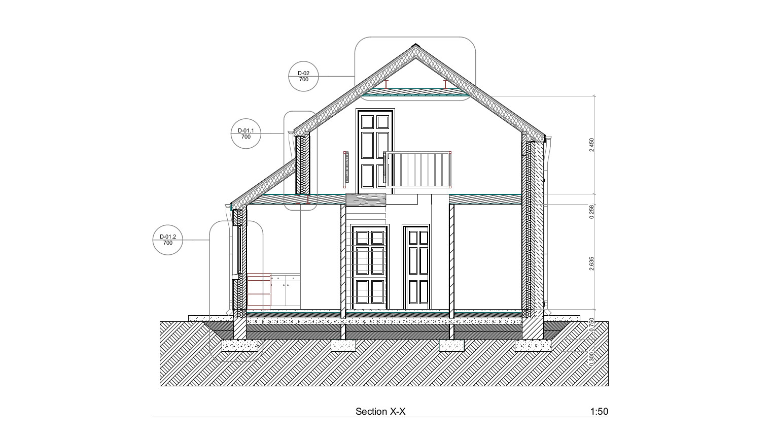 Building 2d section drawing professional cad contractor for 2d building drawing