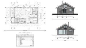 Arkitekt tjenester - Hytte Tegninger