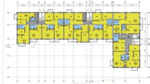 2D Apartment building plans from Archicad model