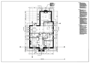 2D CAD floor plan drawing
