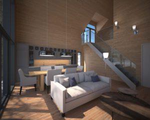 Interior architectural rendering