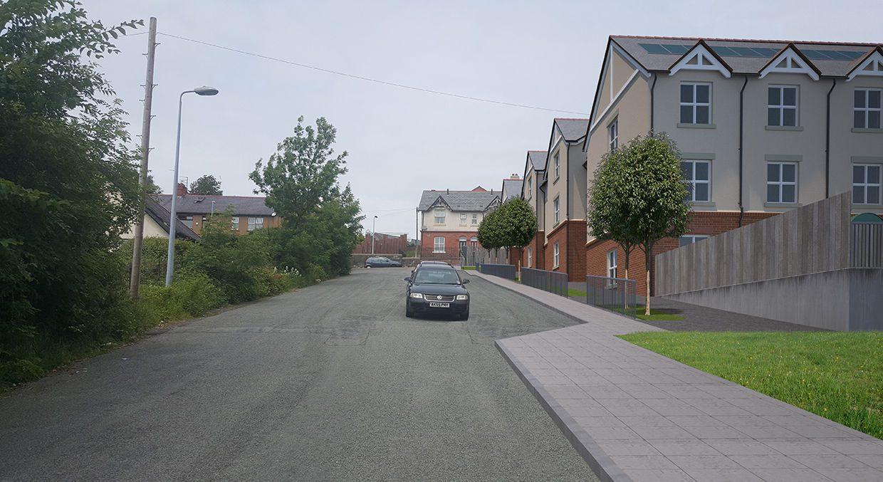 Street view photomontage. Archicad model, maxwell render for UK client.