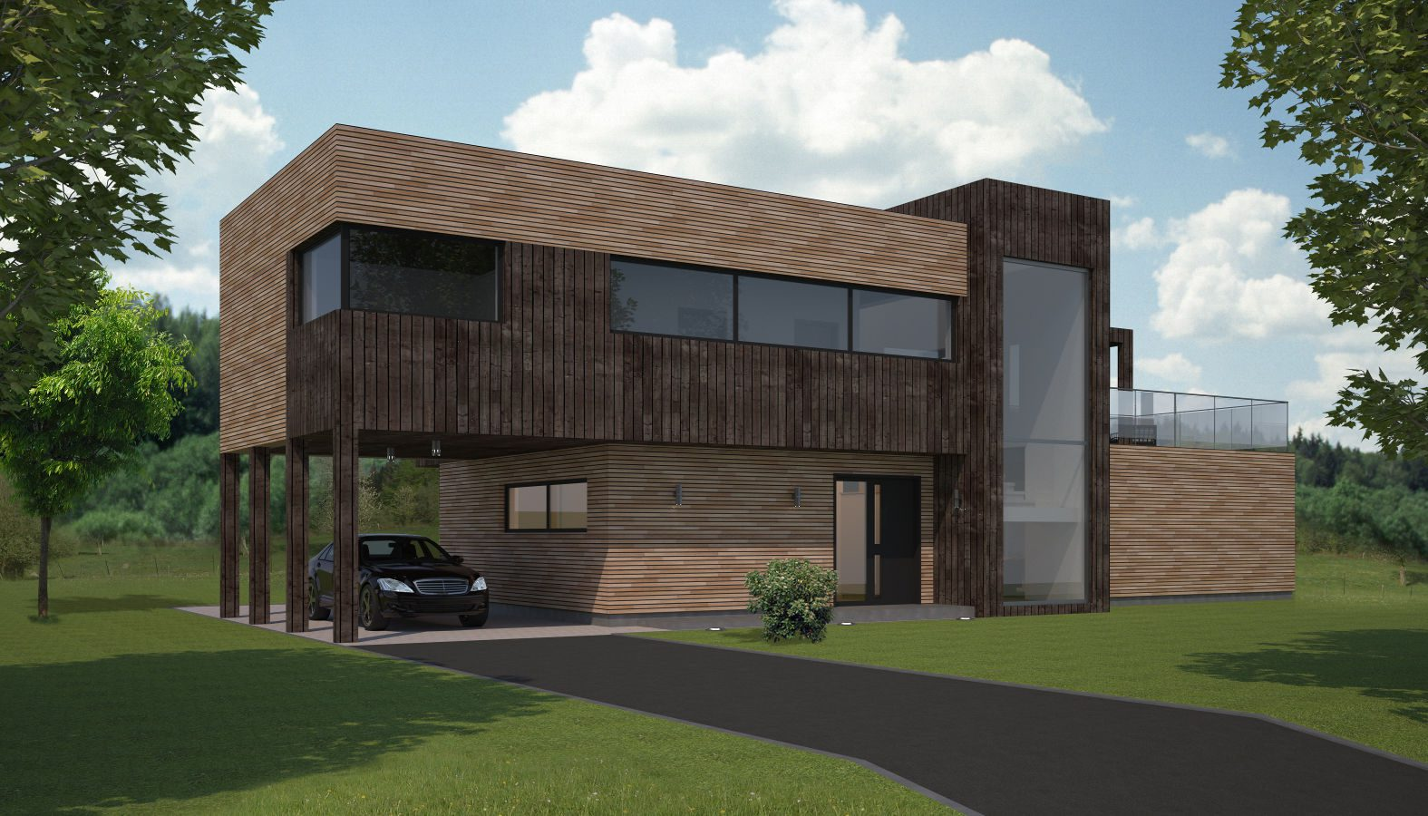 Exterior Architectural rendering for Norwegian client.