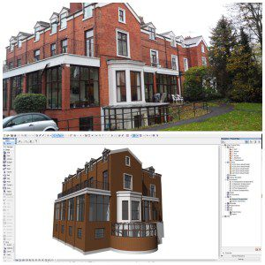 Archicad BIM model from survey data