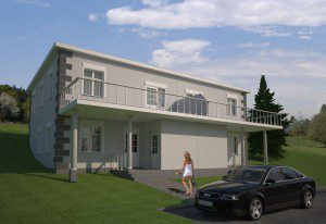 Exterior render of Archicad model by ArchicadTeam.com