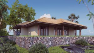 Exterior visualization Archicad model and Corona render.