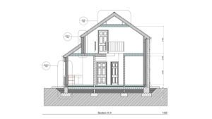 Building 2D section drawing