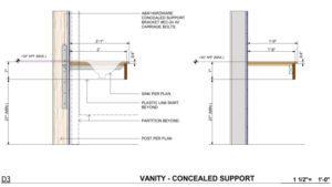 Drafting interior details ( keynoting )