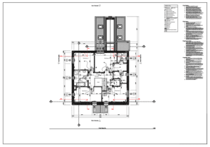 Computer aided 2D drafting - floor plan drawing