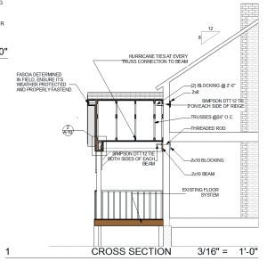 Architectural drafting, section drawings